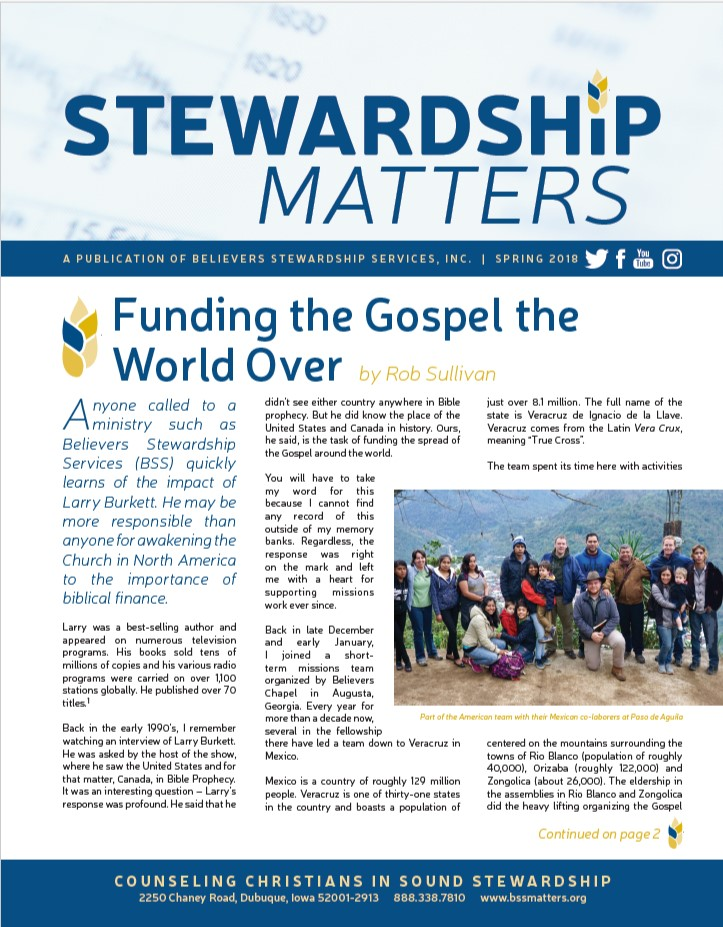 Good Steward Newsletter - June 2007